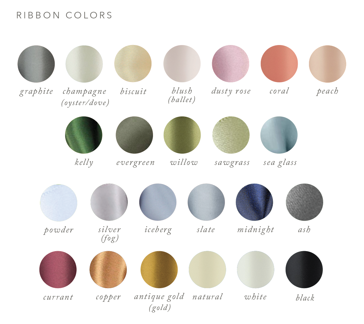satin ribbon colors